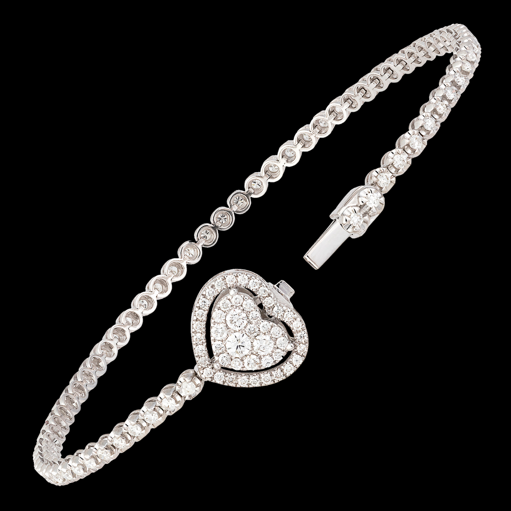 Load image into Gallery viewer, Heart Tennis Bracelet