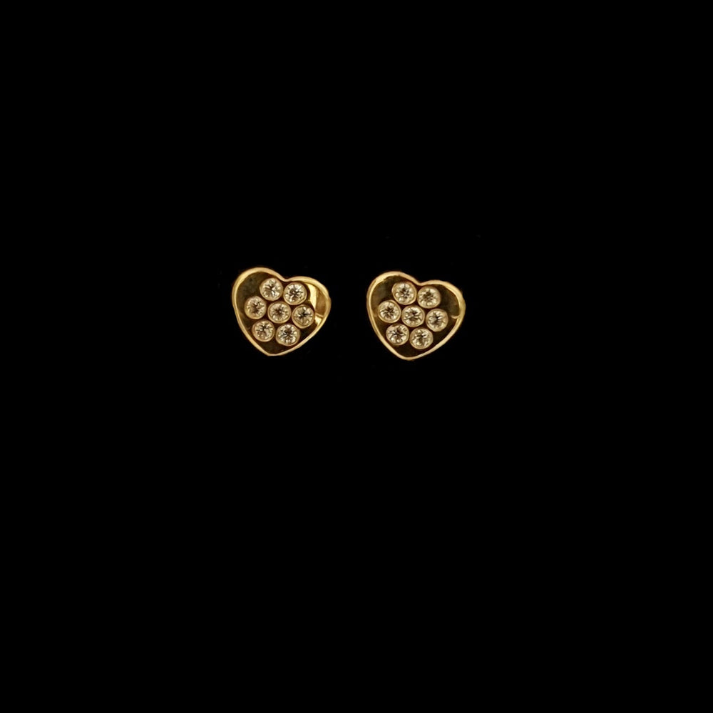 Gold Hearts Small Earrings