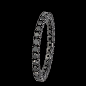 Load image into Gallery viewer, Black Eternity Ring