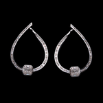 Inside-Out Modern Diamond Earring