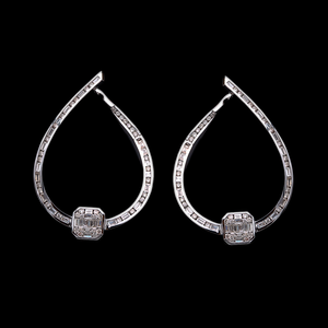 Load image into Gallery viewer, Inside-Out Modern Diamond Earring