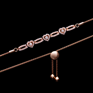 Load image into Gallery viewer, Diamond Hearts Bracelet