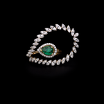 Colombian Emerald Side Ring