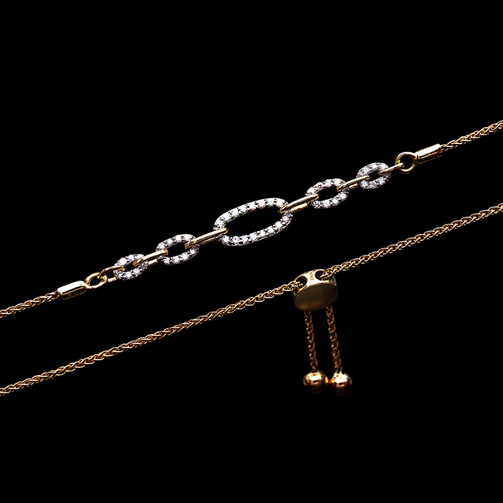 Gold And Diamonds Chain Bracelet