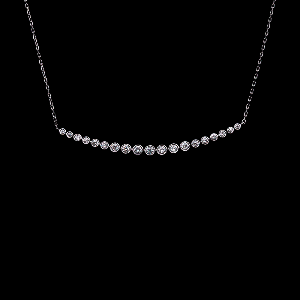 Modern Diamond Necklace