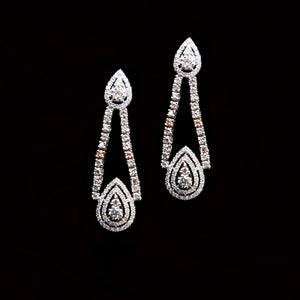 Modern Drop Diamond Earrings