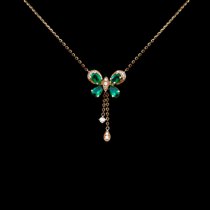 Emerald Butterlfy Necklace