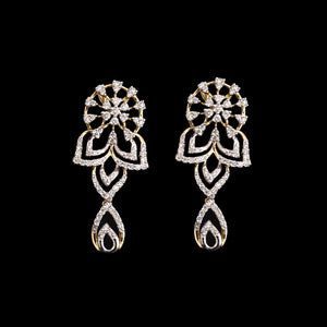 Yellow Gold Diamond Drop Earrings