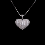 Heart Full Of Diamonds Necklace