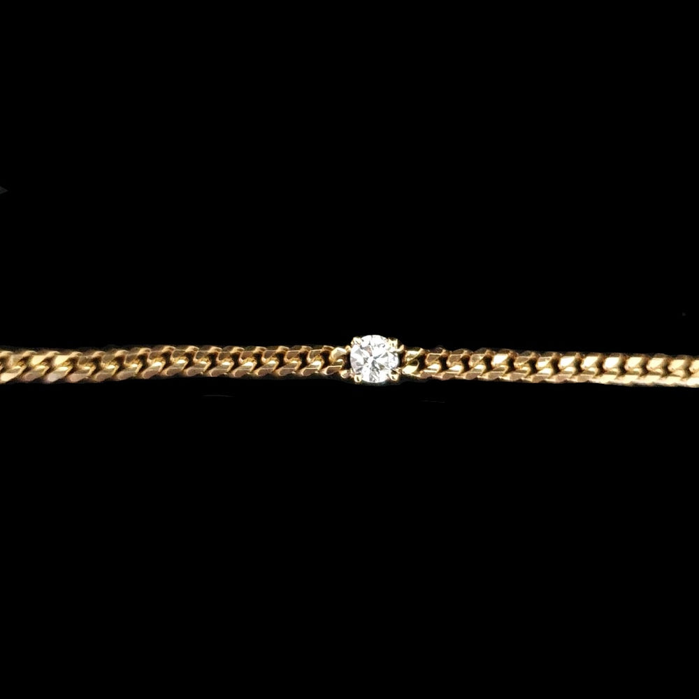 Load image into Gallery viewer, Cuban Link Round Diamond Bracelet