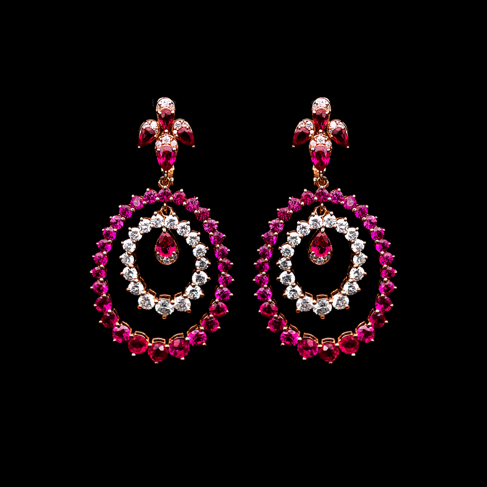 Ruby Hanging Earrings