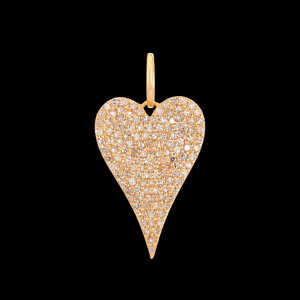 Full Elongated Heart Charm