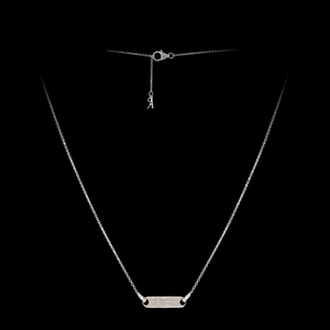 Load image into Gallery viewer, Diamond Tag Necklace