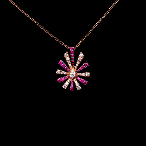 Load image into Gallery viewer, Ruby And Diamond Necklace