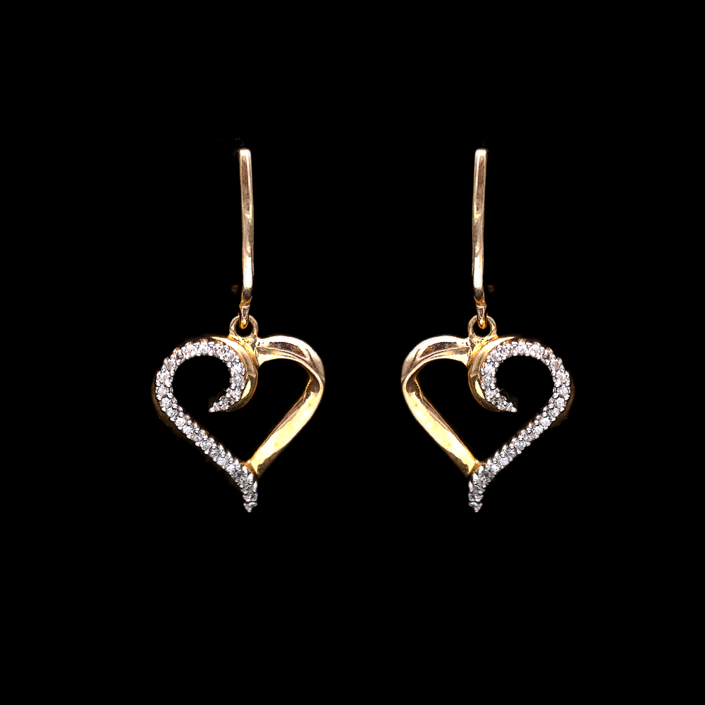 Load image into Gallery viewer, Heart Diamond Earrings