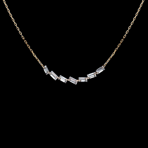 Load image into Gallery viewer, Dazzling Baguette Necklace