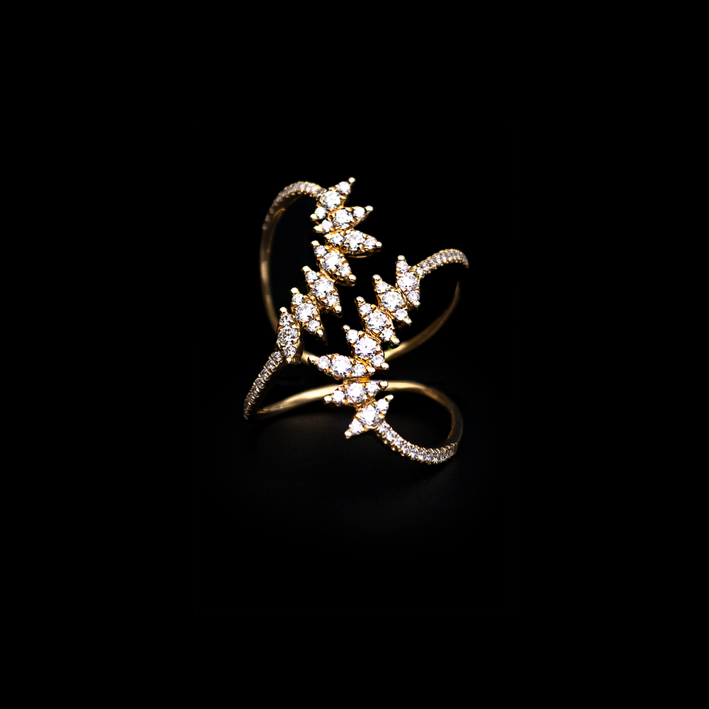 Crossed Spikes Ring