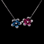 Duo Flower Necklace