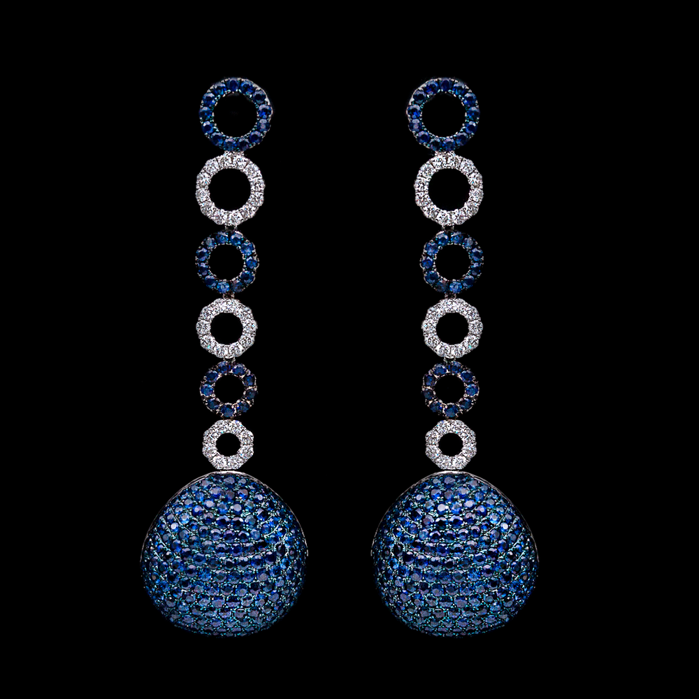 Sapphire Statement Earrings