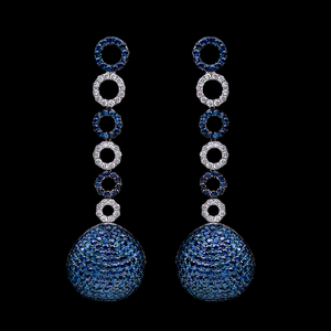 Load image into Gallery viewer, Sapphire Statement Earrings
