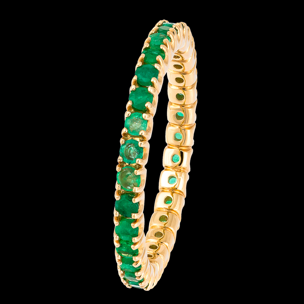 Load image into Gallery viewer, Emerald Eternity Ring