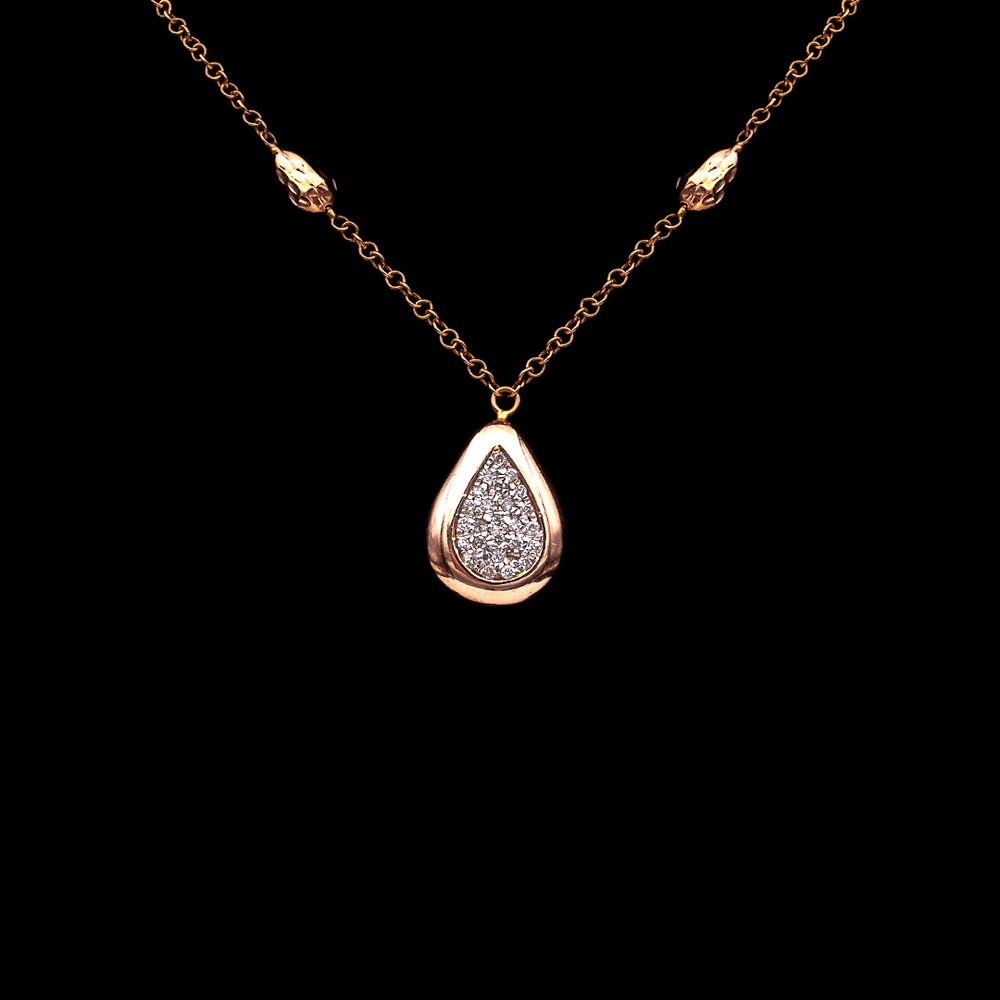 Pave Pear Shape Necklace
