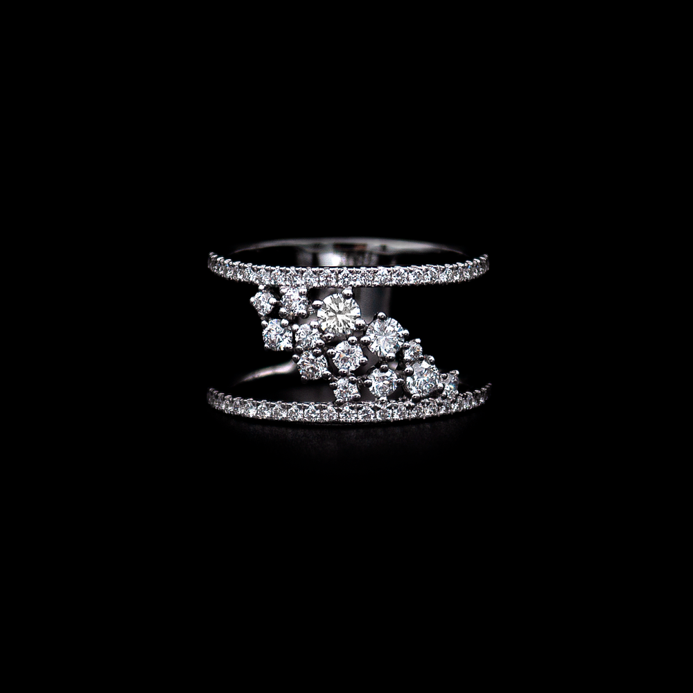 Load image into Gallery viewer, Diamond Modern Ring