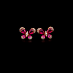 Ruby Butterfly Earring