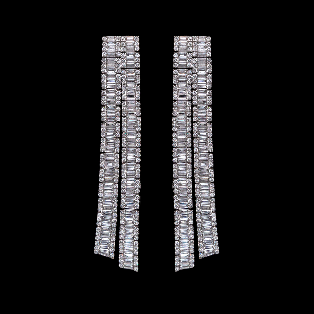 Baguette Diamond Modern Earring