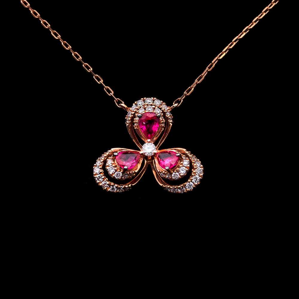 Load image into Gallery viewer, Ruby Trebol Necklace