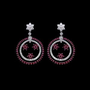 Load image into Gallery viewer, Ruby Hanging Earrings