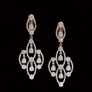Load image into Gallery viewer, Classic Diamond Earrings
