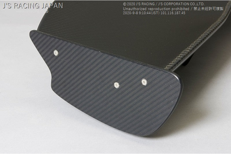 J'S RACING CL7 3D GT wing type 1 wet carbon - On The Run Motorsports