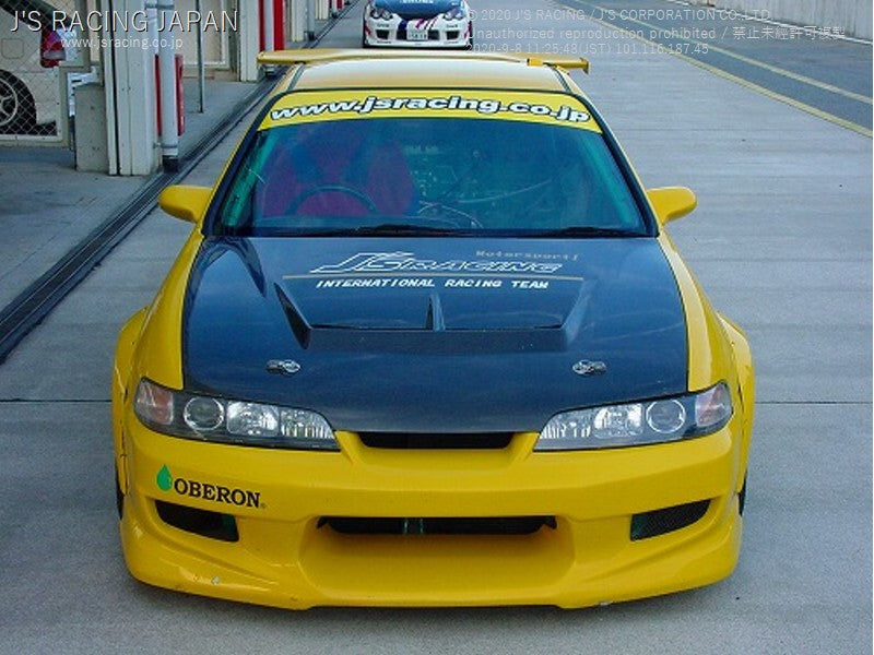 J'S RACING DC2 Street ver. Aero hood CFRP/FRP | OTR Motorsports - Performance parts, tuning and mechanical supplies