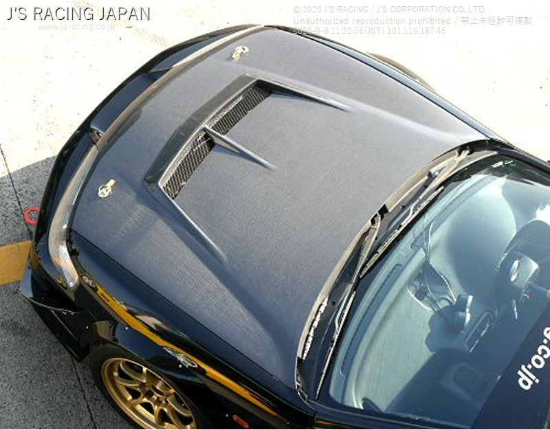 J'S RACING DC2 Street ver. Aero hood FRP/FRP | OTR Motorsports - Performance parts, tuning and mechanical supplies