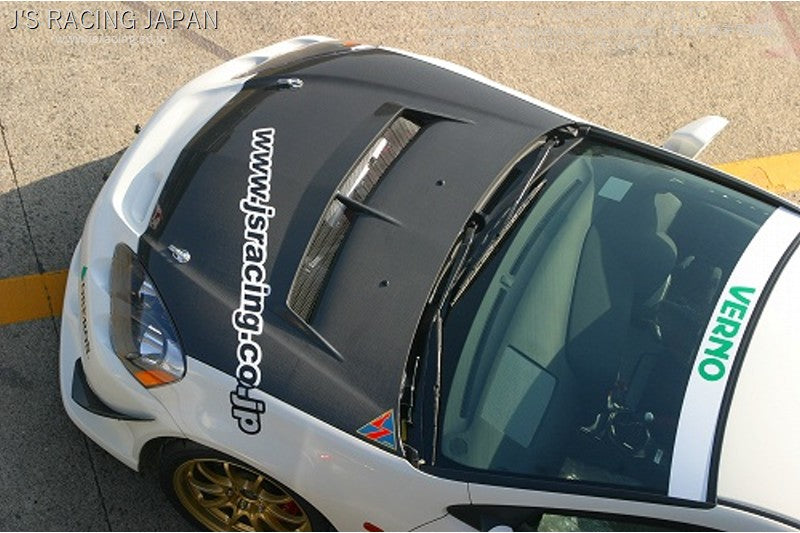 J'S RACING DC5 Street ver. CFRP hood | OTR Motorsports - Performance parts, tuning and mechanical supplies