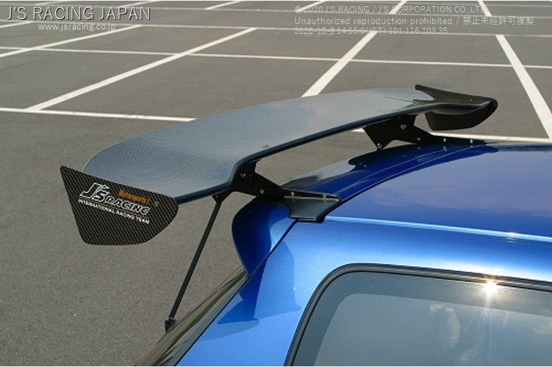J'S RACING EG6 3D GT-WING WET CARBON