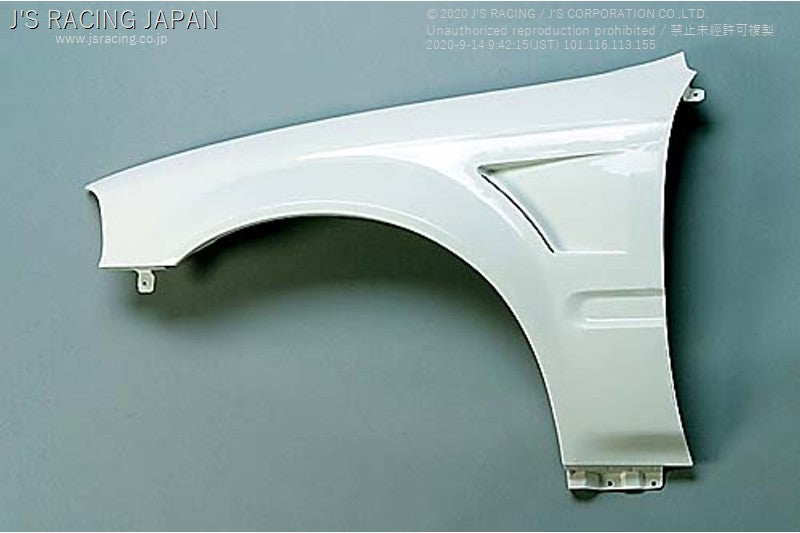 J'S RACING EK9 Front Wide Fender kit FRP (late model) | OTR Motorsports - Performance parts, tuning and mechanical supplies