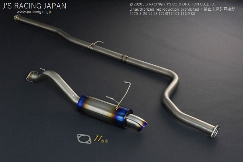 J'S RACING DC2 TYPE-R Exhaust System 60RR R304 - On The Run Motorsports