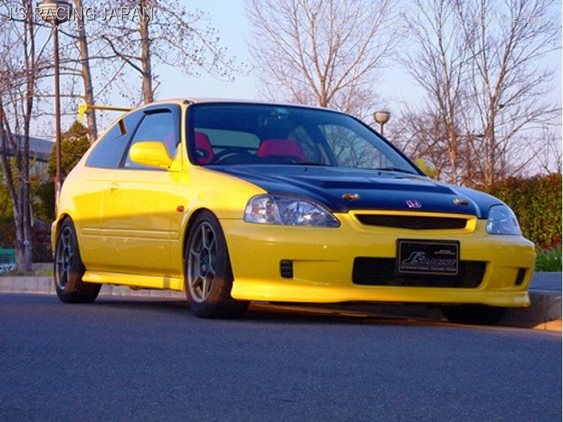 J'S RACING EK9 (early model)Street ver. Aero hood CFRP/FRP | OTR Motorsports - Performance parts, tuning and mechanical supplies