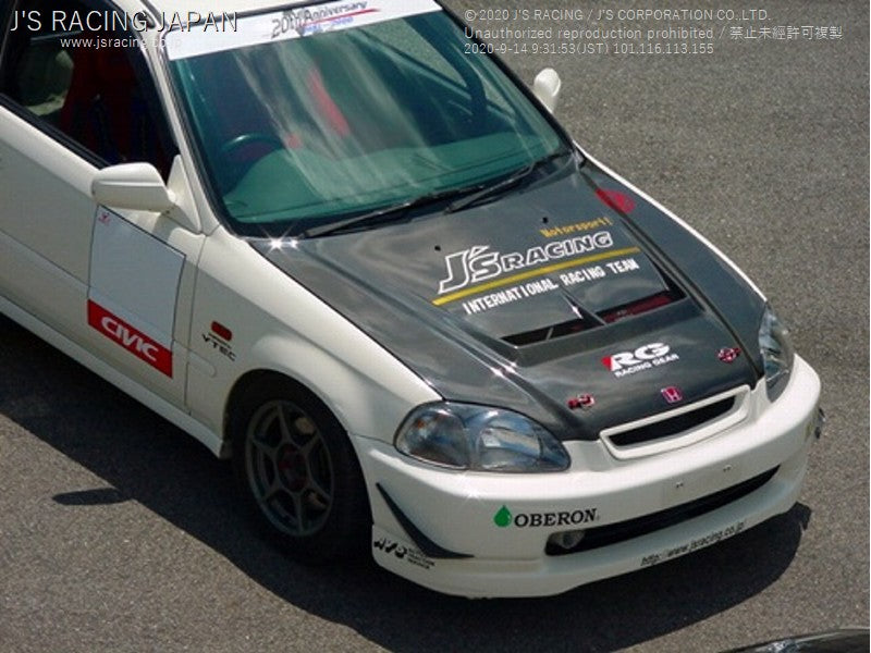 J'S RACING EK9 (early model)Street ver. Aero hood FRP/FRP | OTR Motorsports - Performance parts, tuning and mechanical supplies