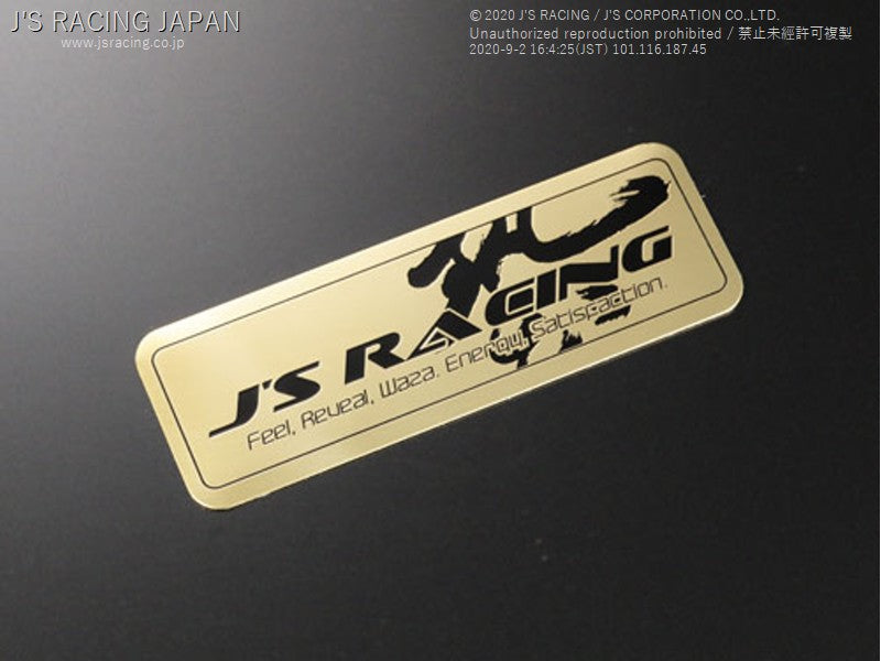 J'S RACING J'S RACING Waza Gold emblem | OTR Motorsports - Performance parts, tuning and mechanical supplies