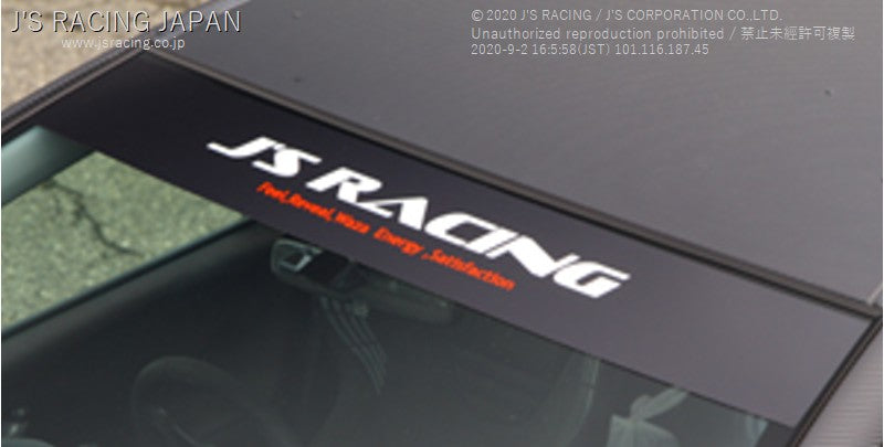 J'S RACING Wind Shield Banner Black | OTR Motorsports - Performance parts, tuning and mechanical supplies