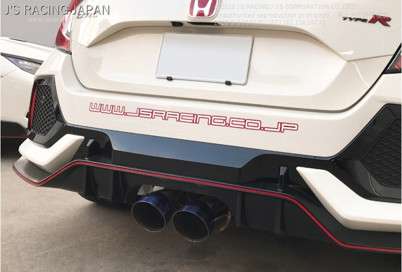 J'S RACING FK8 SUS C304 Exhaust Plus Dual 70RS | OTR Motorsports - Performance parts, tuning and mechanical supplies