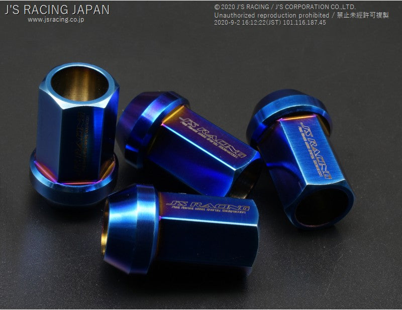 J'S RACING Titanium wheel nuts 19HEX 20pcs | OTR Motorsports - Performance parts, tuning and mechanical supplies