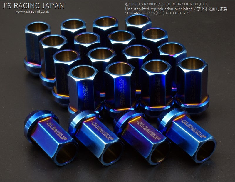 J'S RACING Titanium wheel nuts 17HEX 20pcs - On The Run Motorsports