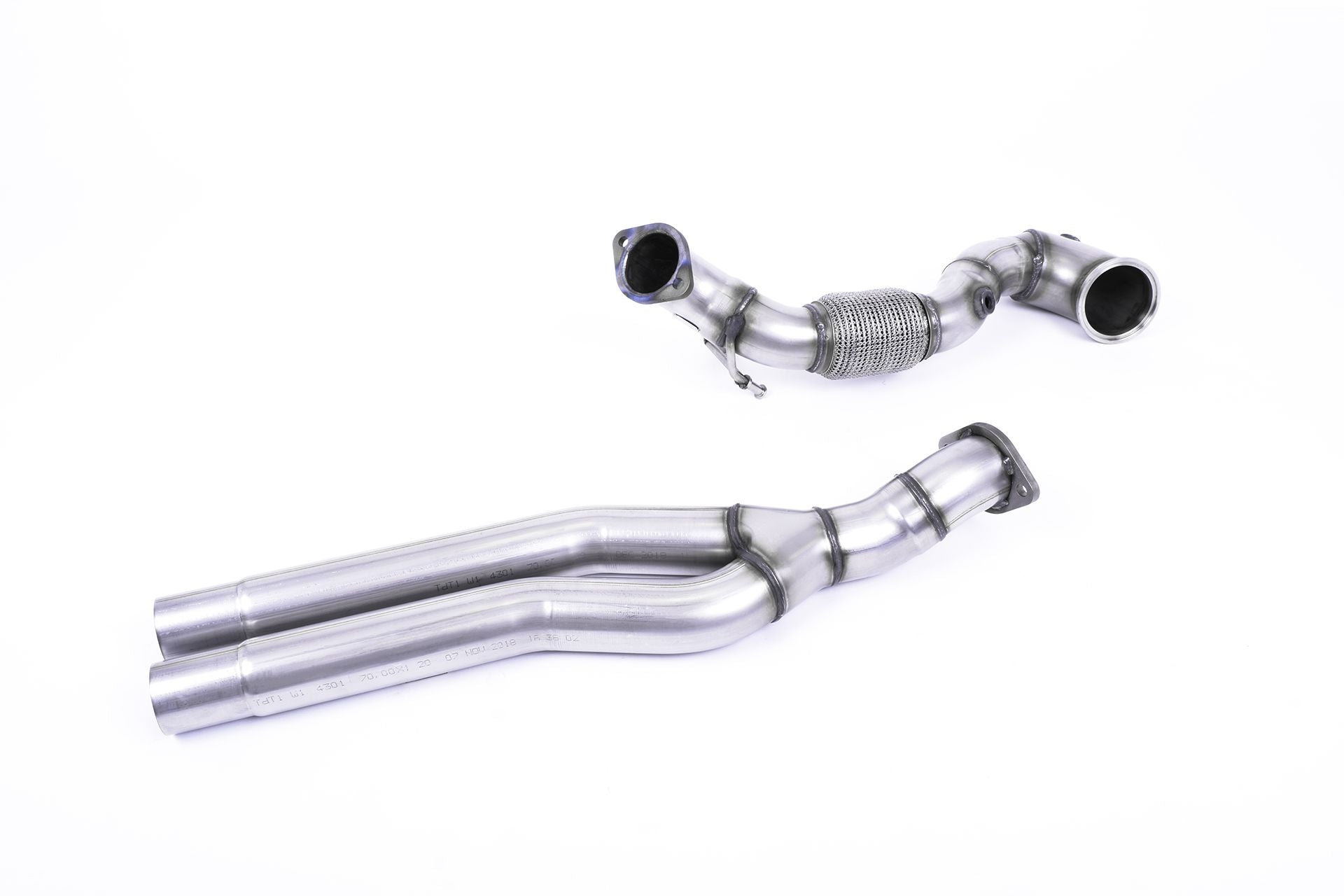 Milltek Sport Large-Bore Downpipes - AUDI RS3 2017- (FACELIFT) | OTR Motorsports - Performance parts, tuning and mechanical supplies