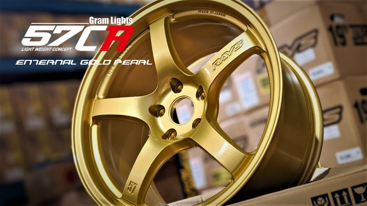 RAYS Gram Lights 57CR OTR GOLD EDITION 18x9.5 +38 5/100 5/114.3 | OTR Motorsports - Performance parts, tuning and mechanical supplies