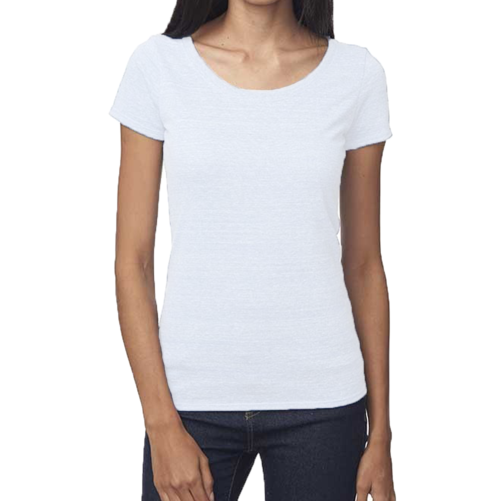 all about a woman's curves. The curves of her body, chest, and face. With a deep scooping round neck you can show off your beautiful décolleté. This is another basic top for your wardrobe, great for layering