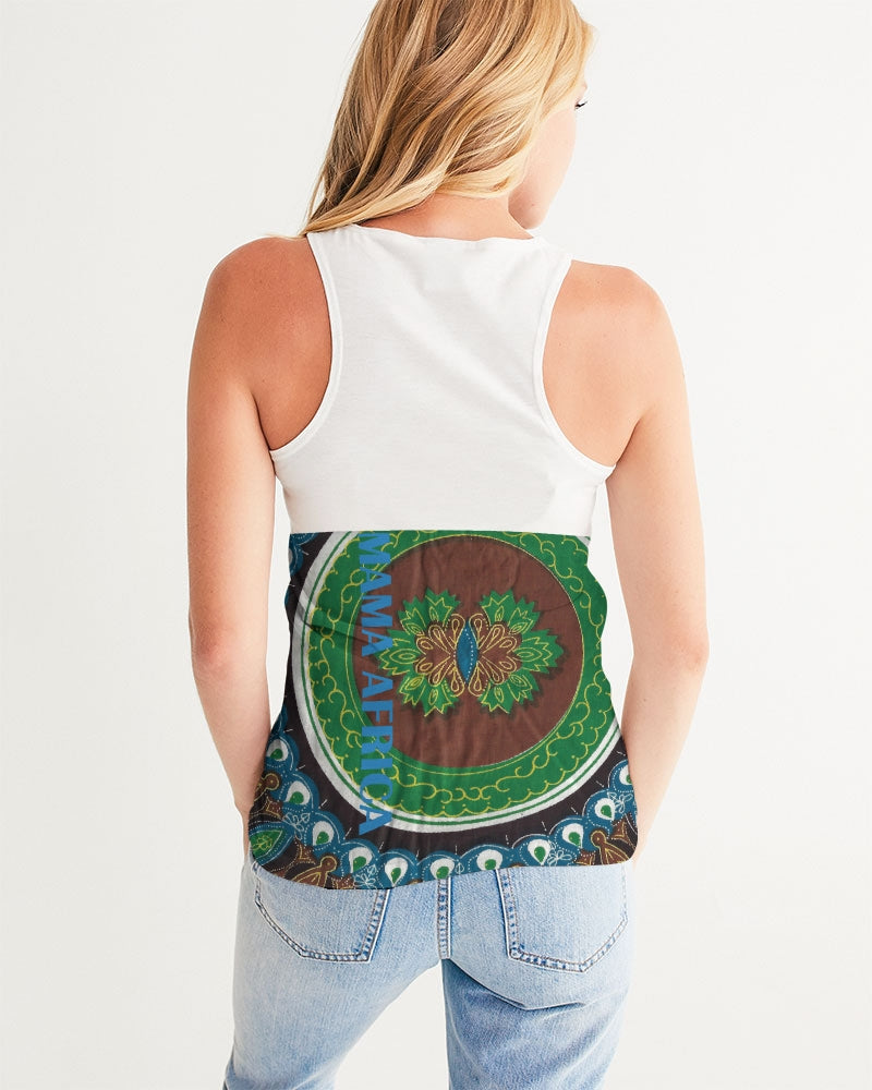 African wax tank top colorful crop top mama africa crop top figure flattering workouts and casual wear